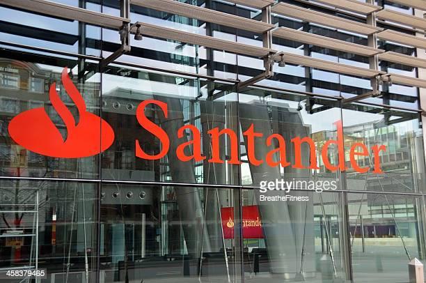 Señal de banco Santander
