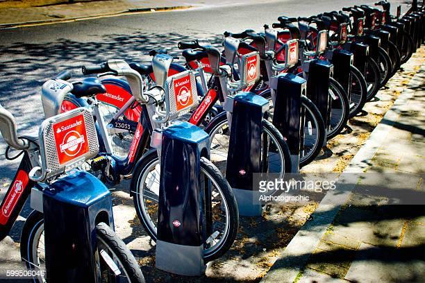 Santander or Boris bikes in London.