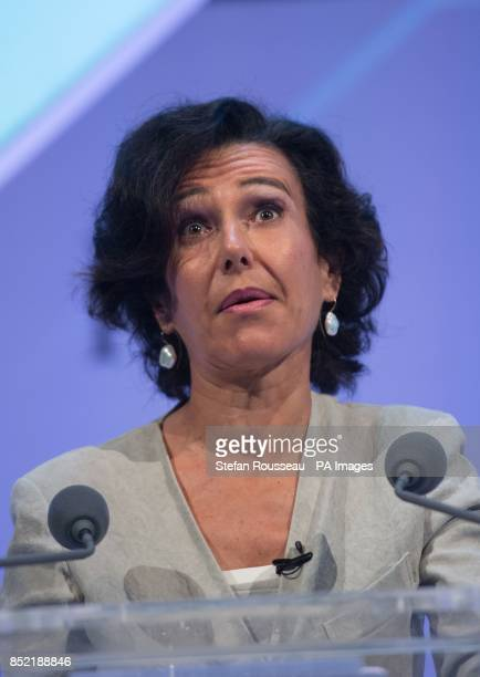 Santander UK chief executive Ana Botin addresses the Institute of Directors annual conference at the Royal Albert Hall in London