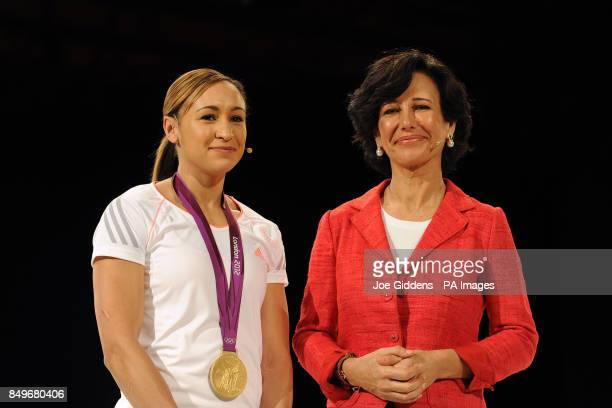 Santander UK chief executive Ana Botin together with Olympics heptathlon gold medal winner Jessica Ennis Santander UK's latest brand ambassador...