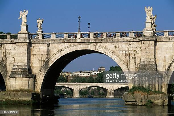 Sant'Angelo bridge over the Tiber river Rome Lazio Italy 2nd century AD Detail