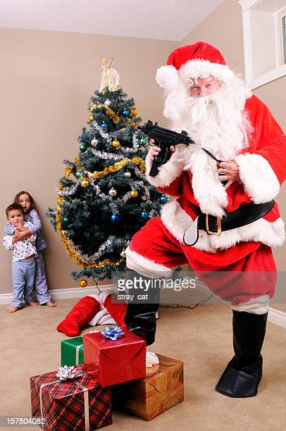 santa's gone bad - naughty santa stock photos and pictures
