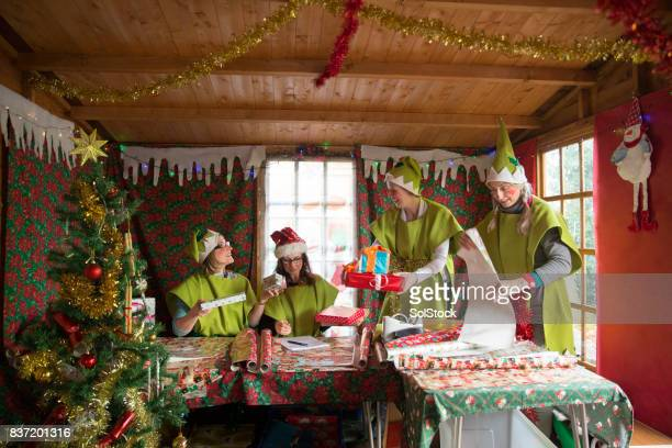 santa's grotto - grotto stock pictures, royalty-free photos & images