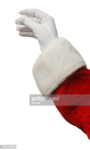 santa's hand - santa stock photos and pictures