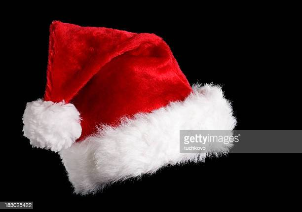 santa's hat - santa hat stock photos and pictures