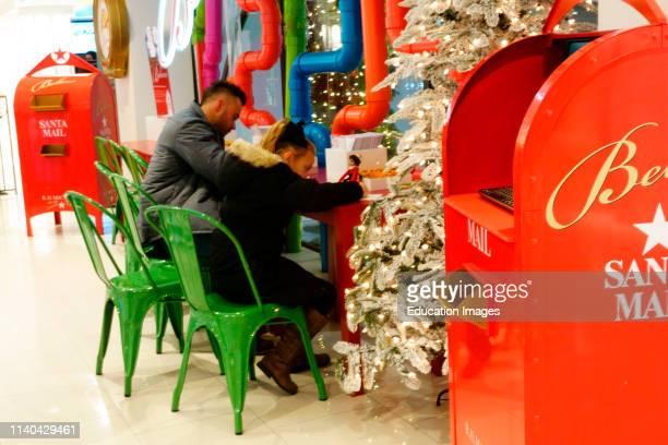 Santas mail box at Macy's.