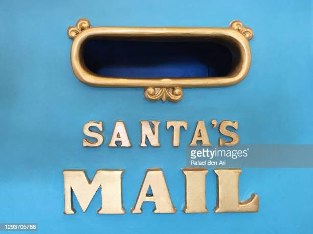 santa's mail letter box mail slot - rafael ben ari ストックフォトと画像
