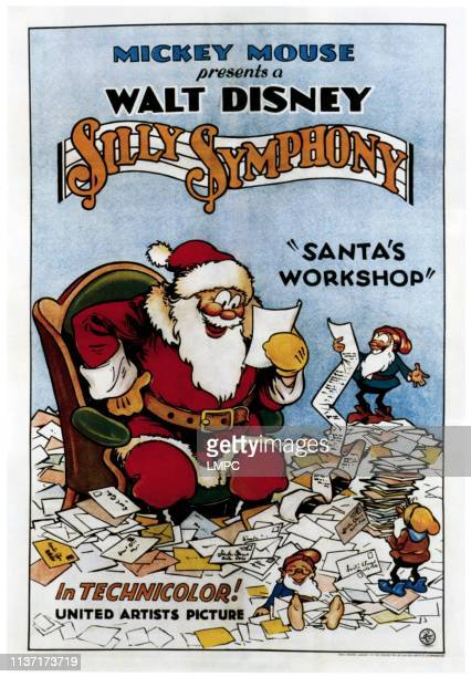 Santa's Workshop poster part of Walt Disney's Silly Symphony series 1932
