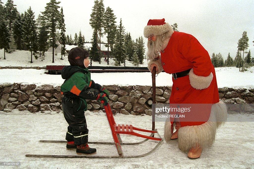 Santaworld, The Village Of Santaclaus On December 1St, 1997. In Sweden : News Photo