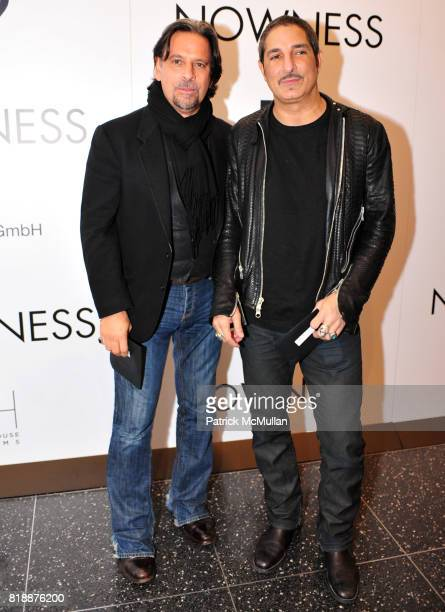 Sante D'Orazio and Nur Khan attend NOWNESS Presents the New York Premiere of JeanMichel Basquiat The Radiant Child at MoMa on April 27 2010 in New...