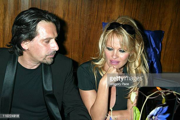 Sante d'Orazio and Pamela Anderson during Valentino Fragrance Launch Party For Valentino V at Four Seasons in New York City New York United States