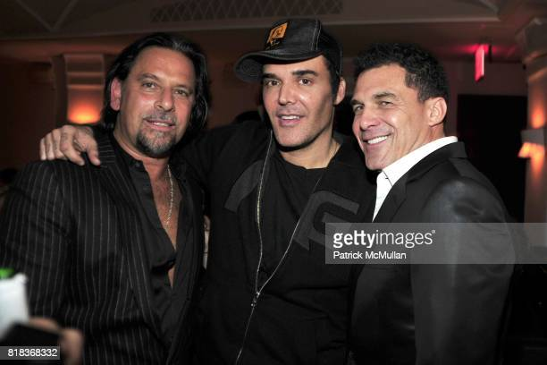 Sante D'Orazio David LaChapelle and Andre Balazs attend The PURPLE Fashion Magazine Dinner at Kenmare on February 14 2010 in New York City