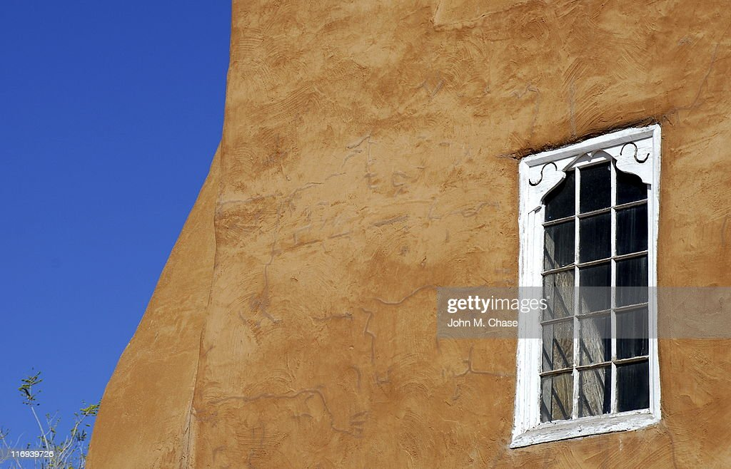Sante Fe Mission Church, detail : Stock Photo