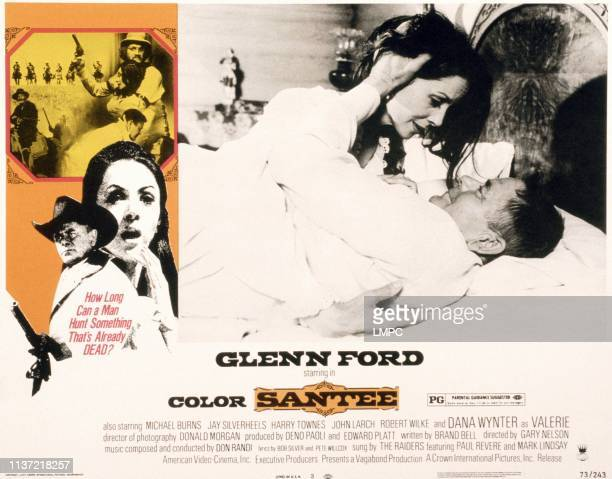 Santee poster US poster in bed from top Dana Wynter Glenn Ford 1973