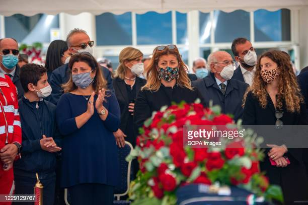 Santelli's sisters and nephews during the funeral. At the Regional Citadel in Catanzaro was the last tribute for Jole Santelli, Governor of Calabria...