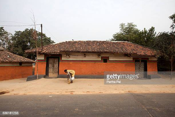 Santhal Tribal made colorful mud house