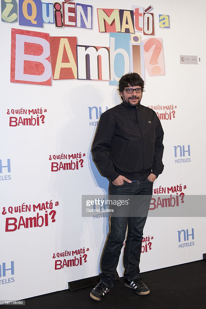 Santi Amodeo attends the '¿Quien Mato a Bambi?' photocall at Hesperia Emperatriz Hotel on November 12, 2013 in Madrid, Spain.