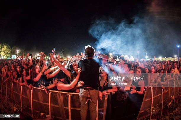 Santi Balmes of Love of Lesbian performs in concert during day 4 of Festival Internacional de Benicassim on July 16 2017 in Benicassim Spain