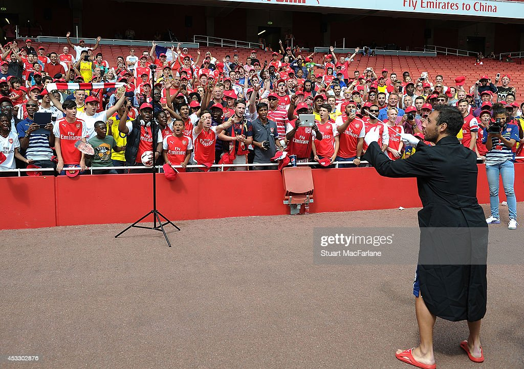 Arsenal Players Attend Members Day