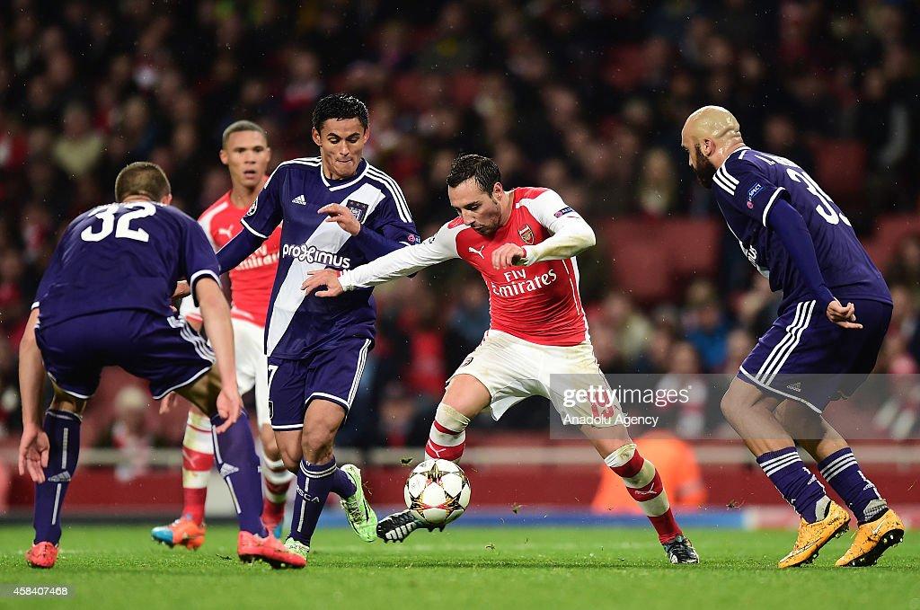UEFA Champions League - Arsenal v Anderlecht : News Photo