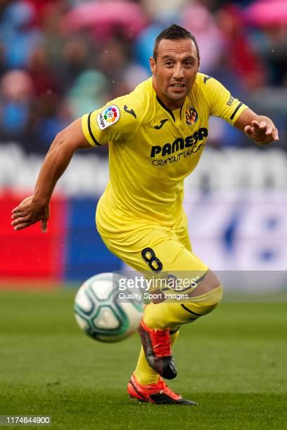 Santi Cazorla of Villarreal CF in action during the La Liga match between CD Leganes and Villarreal CF at Estadio Municipal de Butarque on September...