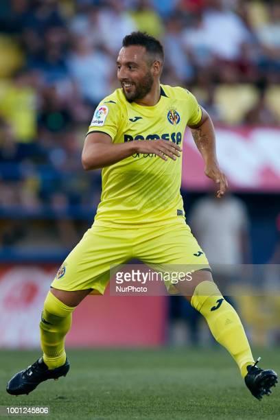 Santi Cazorla of Villarreal CF in action during the PreSeason Friendly match between Villarreal CF and Hercules CF at Mini Estadi on July 17 2018 in...