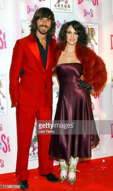 Santi Millan and Paz Vega during 'Di Que Si' Madrid Premiere at Palacio de la Musica Cinema in Madrid Spain