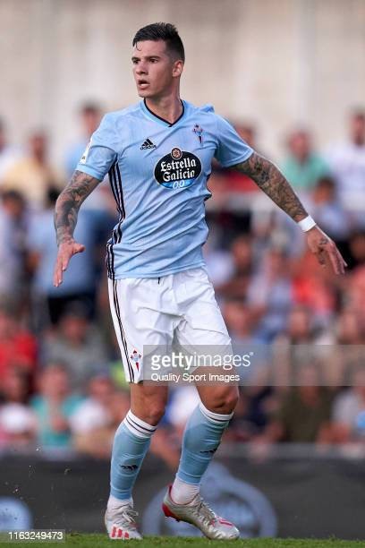 Santi Mina of Real Club Celta in action during the PreSeason match between real Club Celta and Lugo at stadium of Baltar on July 20 2019 in...