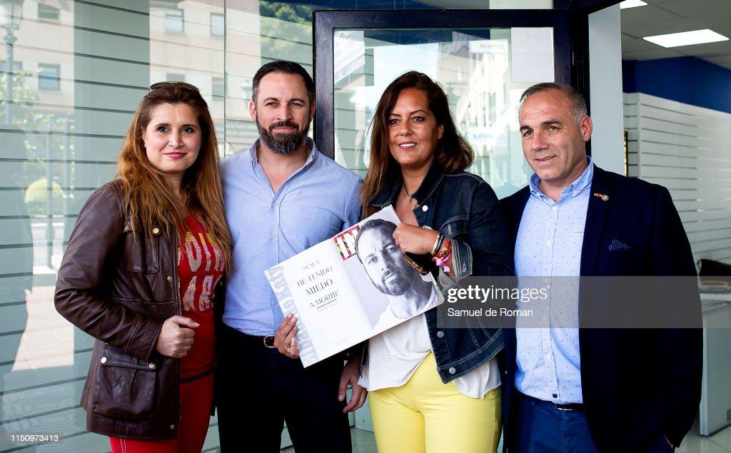ESP: Santiago Abascal Visits Pozuelo de Alarcon