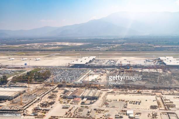 vista aérea de santiago - santiago região metropolitana de santiago - fotografias e filmes do acervo