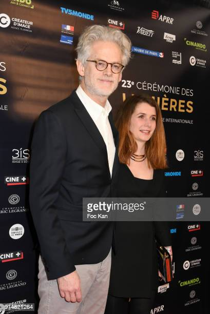 Santiago Amigorena and his guest attend the 23th Lumieres Awards Ceremony at IMA on February 5 2018 in Paris France