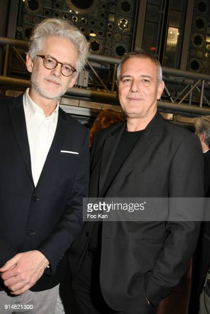 Santiago Amigorena and Laurent Cantet attend the 23th Lumieres Awards Ceremony at IMA on February 5 2018 in Paris France
