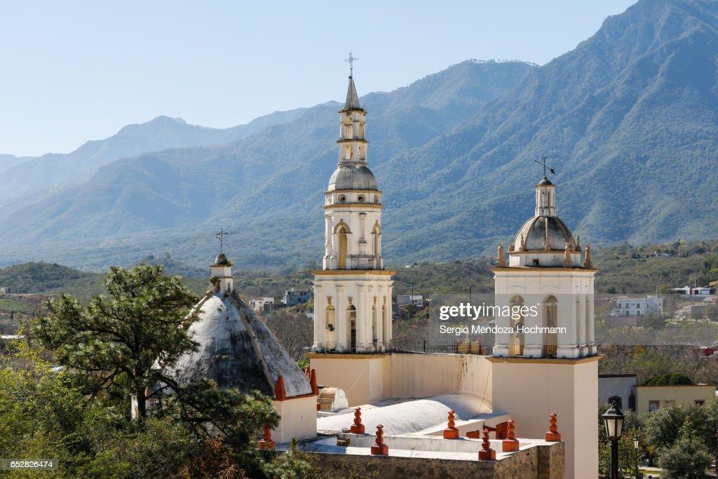 Santiago Apostol Church - Santiago, Nuevo León, Mexico : Stock-Foto
