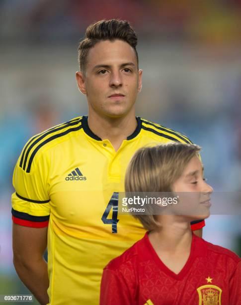 Santiago Arias during a friendly match between national team of Spain vs Colombia in Nueva Condomina Stadium Murcia SpainWednesday June 7 2017
