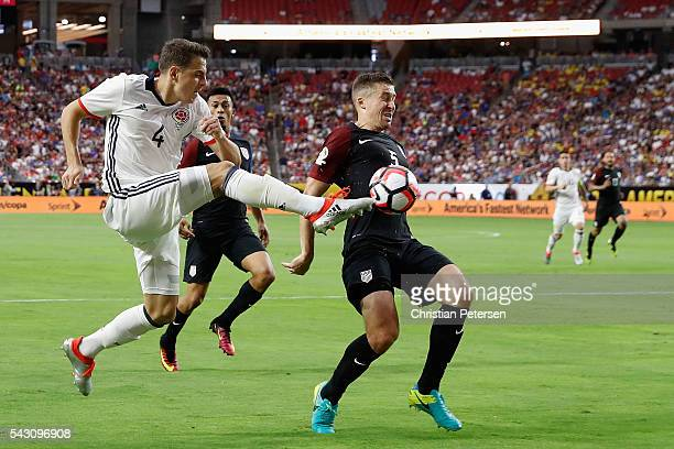 Santiago Arias of Colombia attempts a shot past Matt Besler of United States during the first half of the 2016 Copa America Centenario third place...