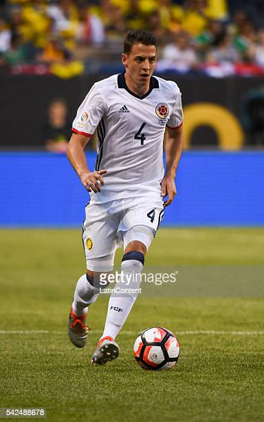 Santiago Arias of Colombia during a Semifinal match between Colombia and Chile at Soldier Field as part of Copa America Centenario US 2016 on June 22...
