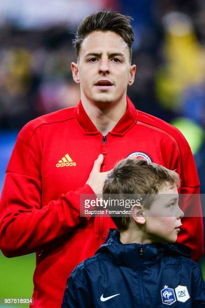 Santiago Arias of Colombia during the International friendly match between France and Colombia on March 23 2018 in Paris France