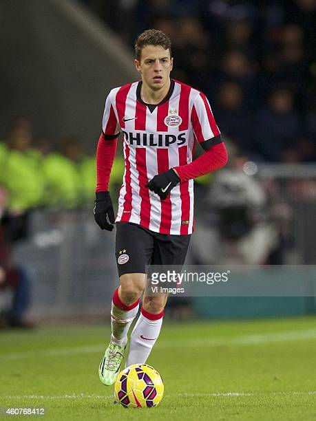 Santiago Arias of PSV during the Dutch Eredivisie match between PSV Eindhoven and Go Ahead Eagles at the Phillips stadium on December 20 2014 in...