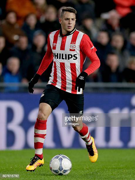 Santiago Arias of PSV during the Dutch Eredivisie match between PSV Eindhoven and De Graafschap at the Phillips stadium on January 30 2016 in...