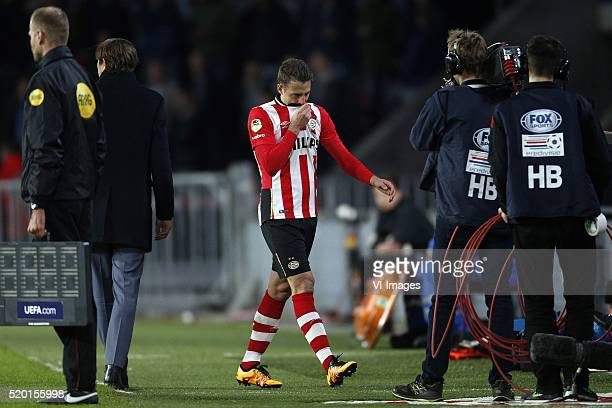 Santiago Arias of PSV during the Dutch Eredivisie match between PSV and Willem II at the Philips Stadium on april 9 2016 in Eindhoven the Netherlands