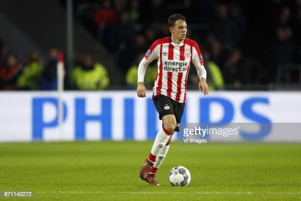 Santiago Arias of PSV during the Dutch Eredivisie match between PSV Eindhoven and FC Twente Enschede at the Phillips stadium on November 05 2017 in...