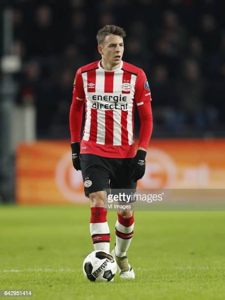 Santiago Arias of PSVduring the Dutch Eredivisie match between PSV Eindhoven and NEC Nijmegen at the Phillips stadium on February 18 2017 in...