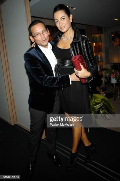Santiago Barberi Gonzalez and Maria Buccelatti attend Santiago Barberi Gonzalez hosts intimate dinner for Pamela Golbin to celebrate the launch of...
