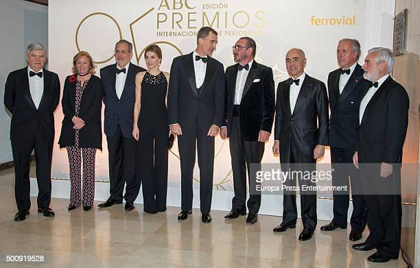 Santiago Bergareche Catalina Luca de Tena Miguel Henrique Otero Queen Letizia of Spain King Felipe of Spain Carlos Herrera Rafael del Pino Javier...