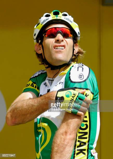 Santiago Botero of Colombia from the Phonak team is seen before the stage 9 of the 92nd Tour de France between Gerardmer and Mulhouse on July 10,...