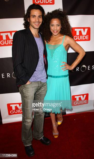 Santiago Cabrera and Tawny Cypress during Wrap Party for NBC's Heroes Arrivals at Cabana Club in Hollywood California United States