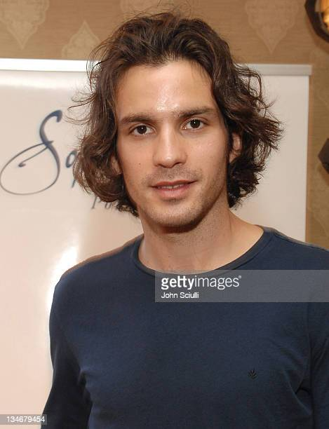 Santiago Cabrera at Sophia Fiori during HBO Luxury Lounge Day 1 at Four Seasons Hotel in Beverly Hills California United States