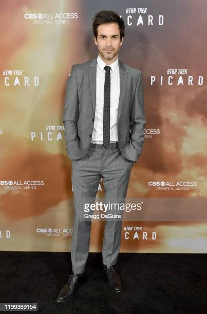Santiago Cabrera attends the Premiere Of CBS All Access' Star Trek Picard at ArcLight Cinerama Dome on January 13 2020 in Hollywood California
