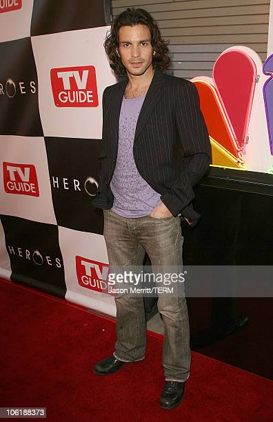Santiago Cabrera during The Cast Of Heroes Celebrate's Production Wrap Of Season One at The Cabana Club in Hollywood California United States