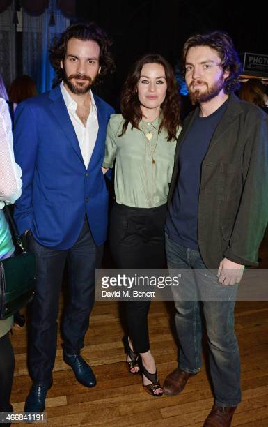 Santiago Cabrera Maimie McCoy and Tom Burke attend the InStyle Best of British Talent party in celebration of BAFTA in association with Lancome and...
